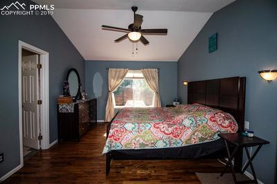 Vaulted master bedroom