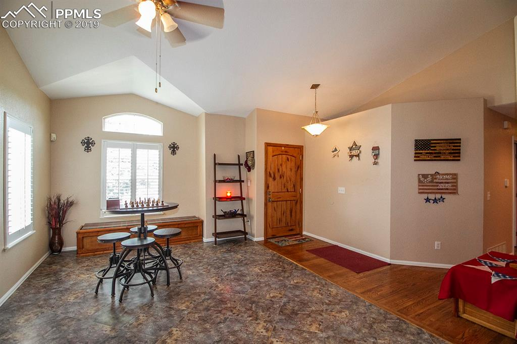 Vaulted entry & living room