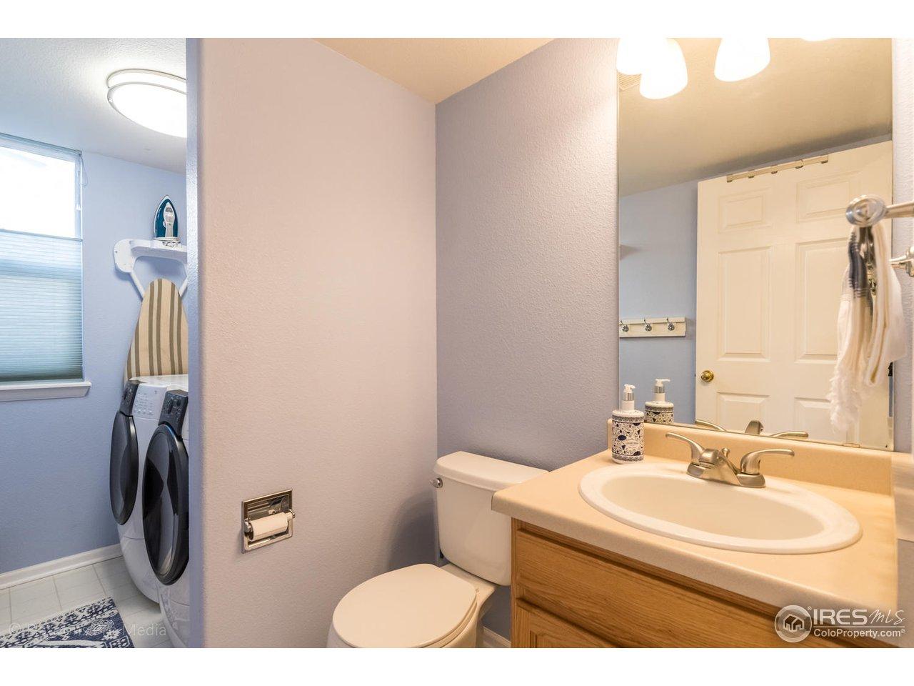 Half bath and Laundry room