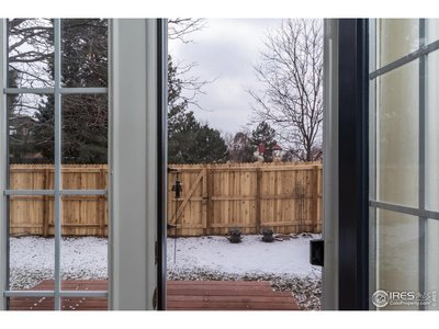 French doors from Master Bedroom