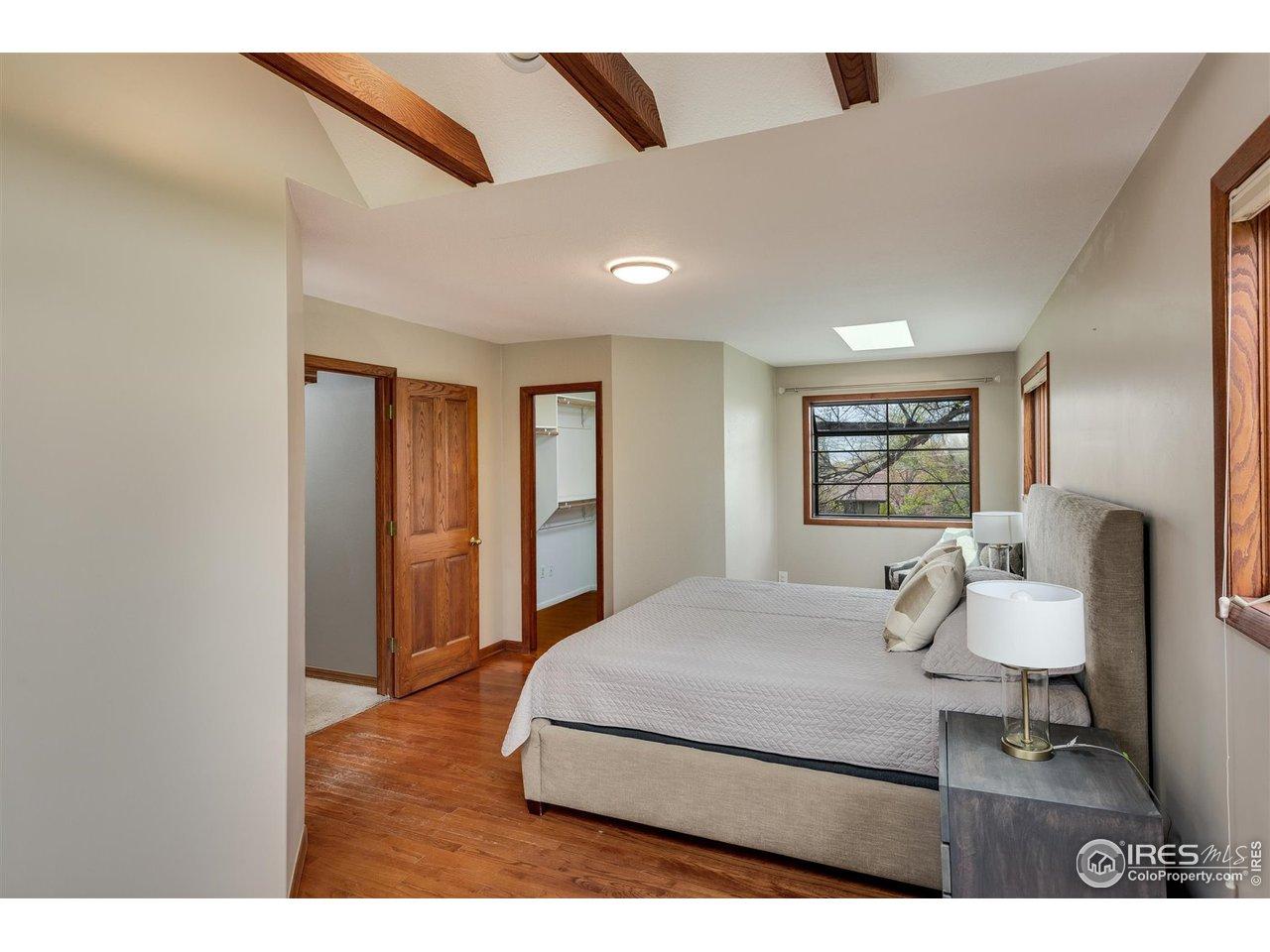 West facing bay window in master bedroom