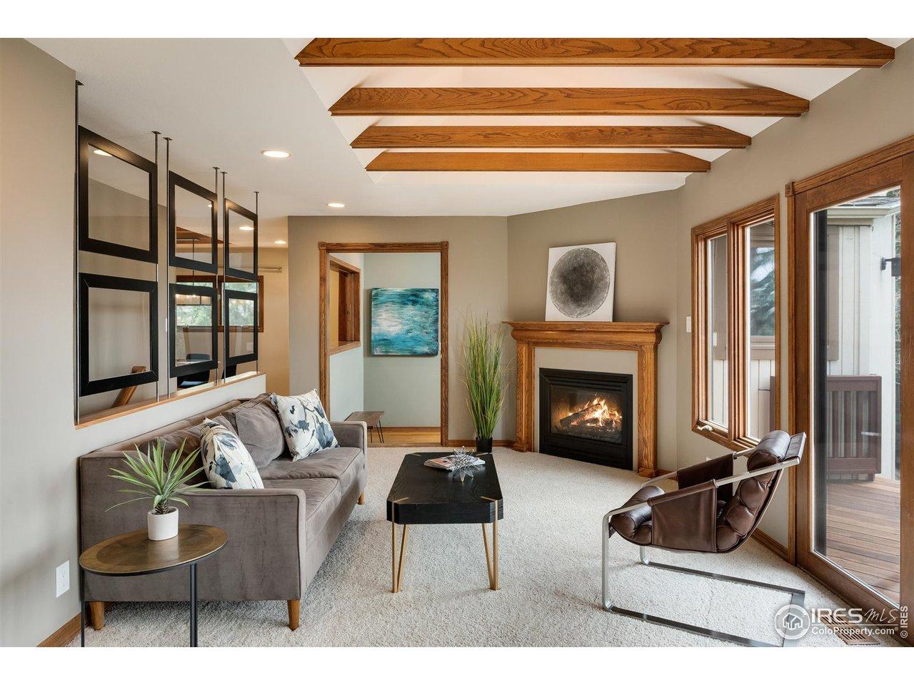 Wood-beamed ceilings