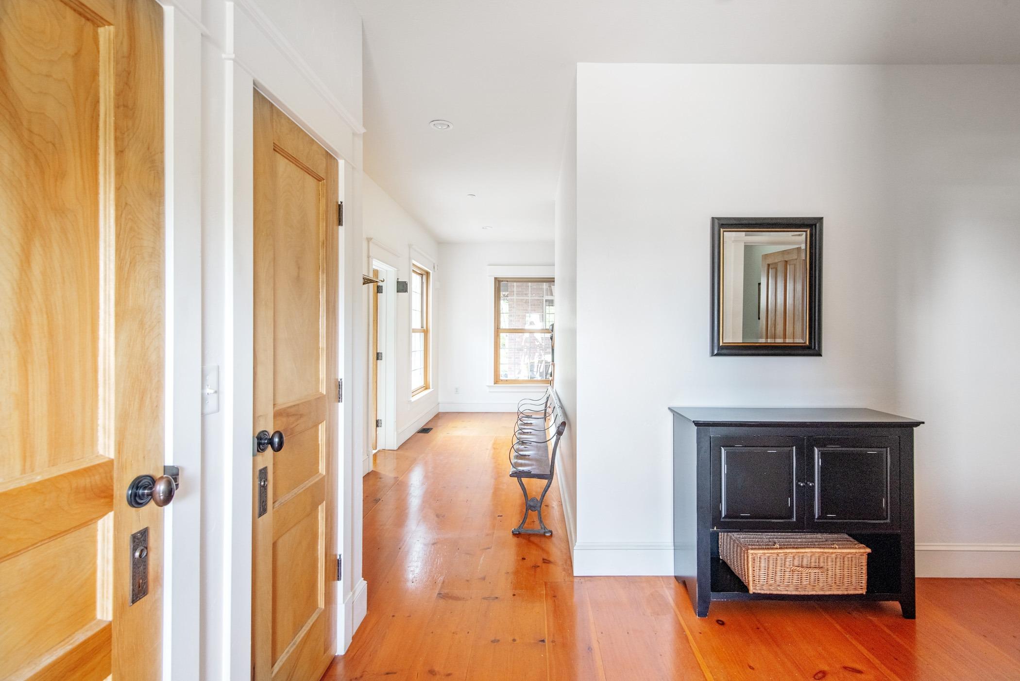 Gorgeous Wood floors and custom doors
