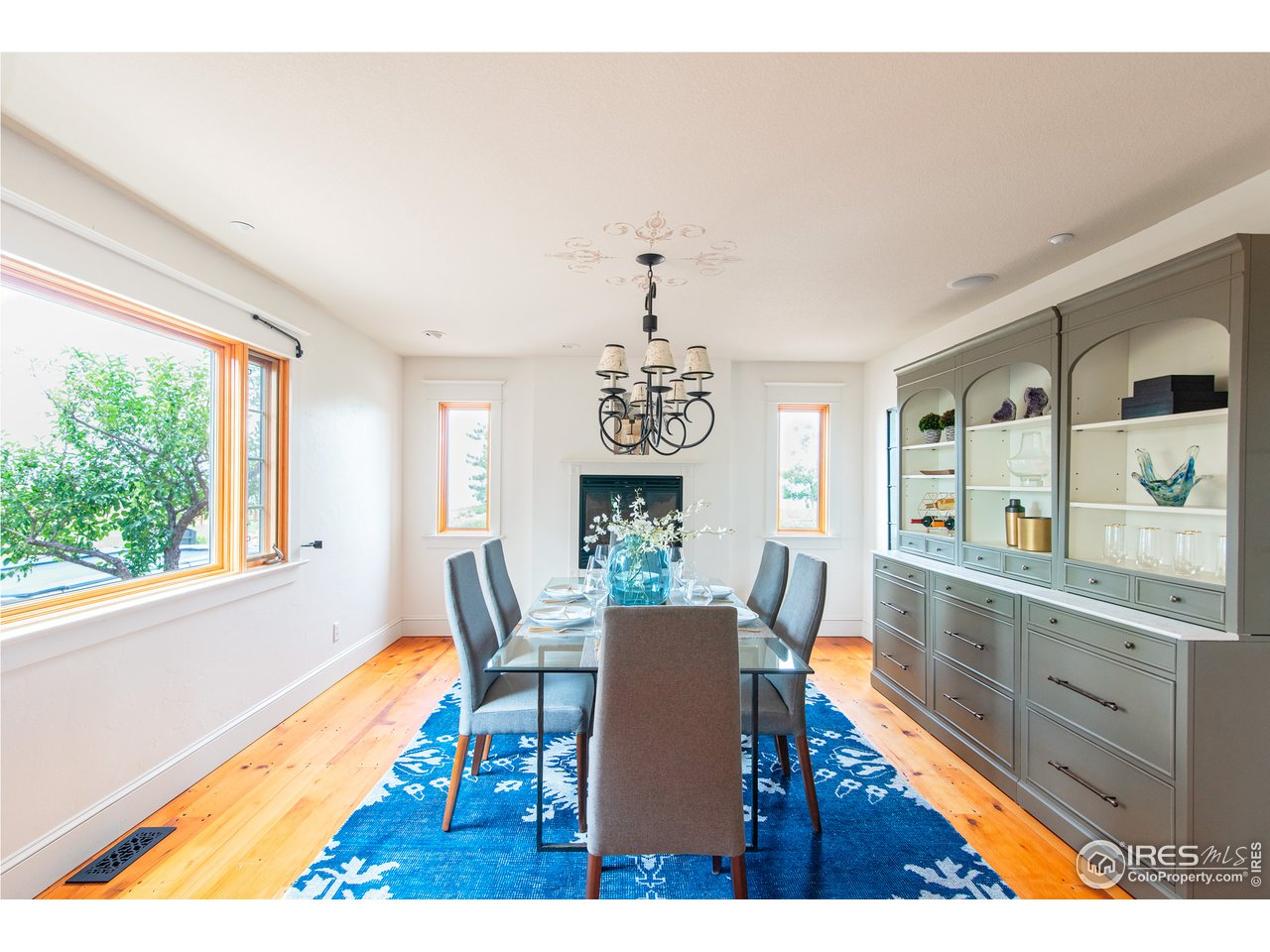 Dining Room with large windows