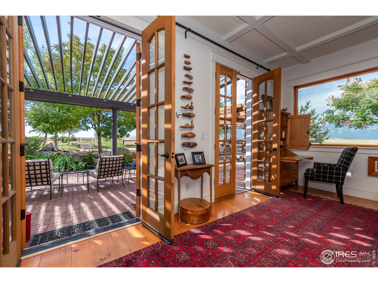 French Doors that open to outdoor living area