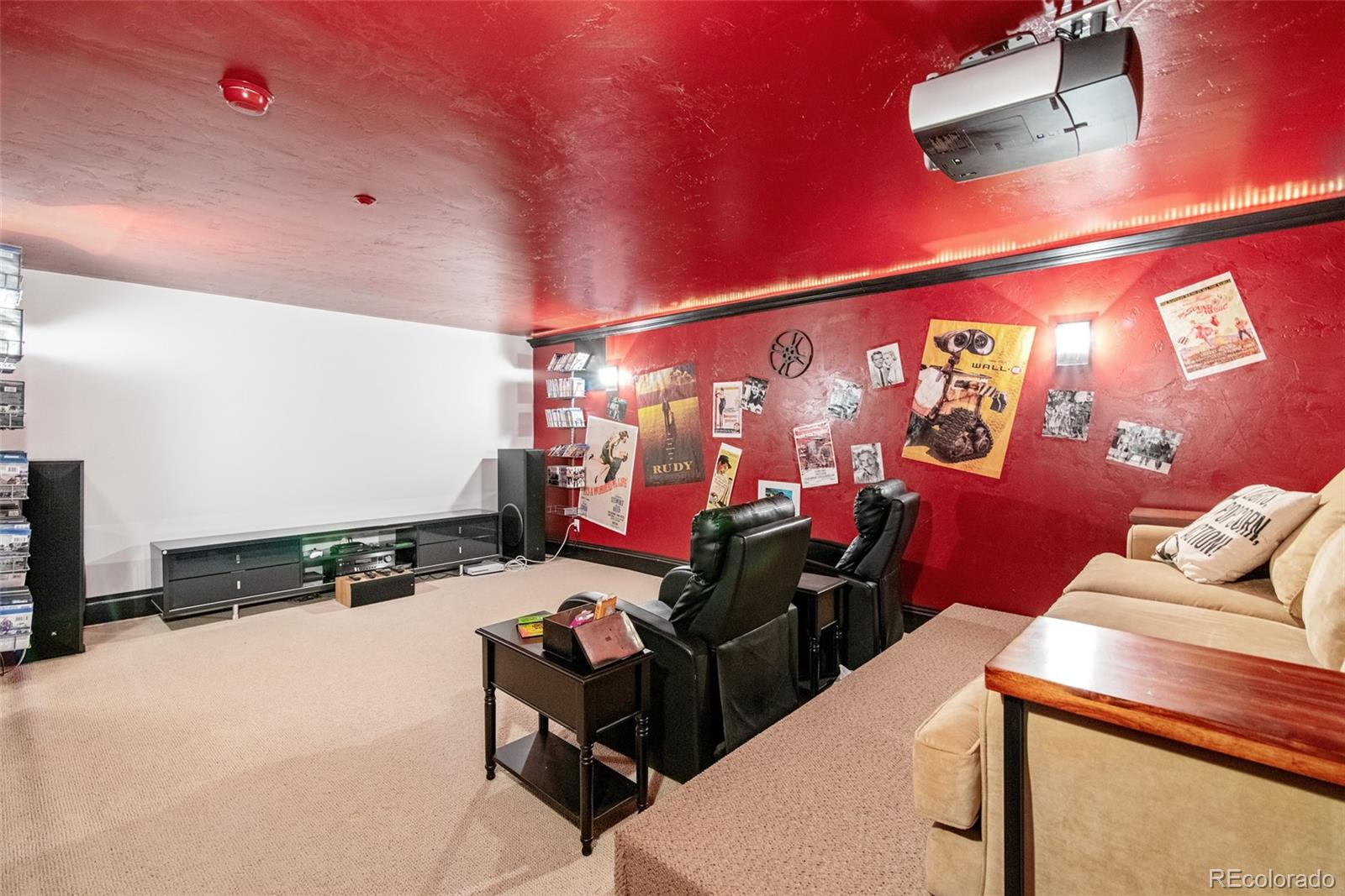 Built in Theater Room