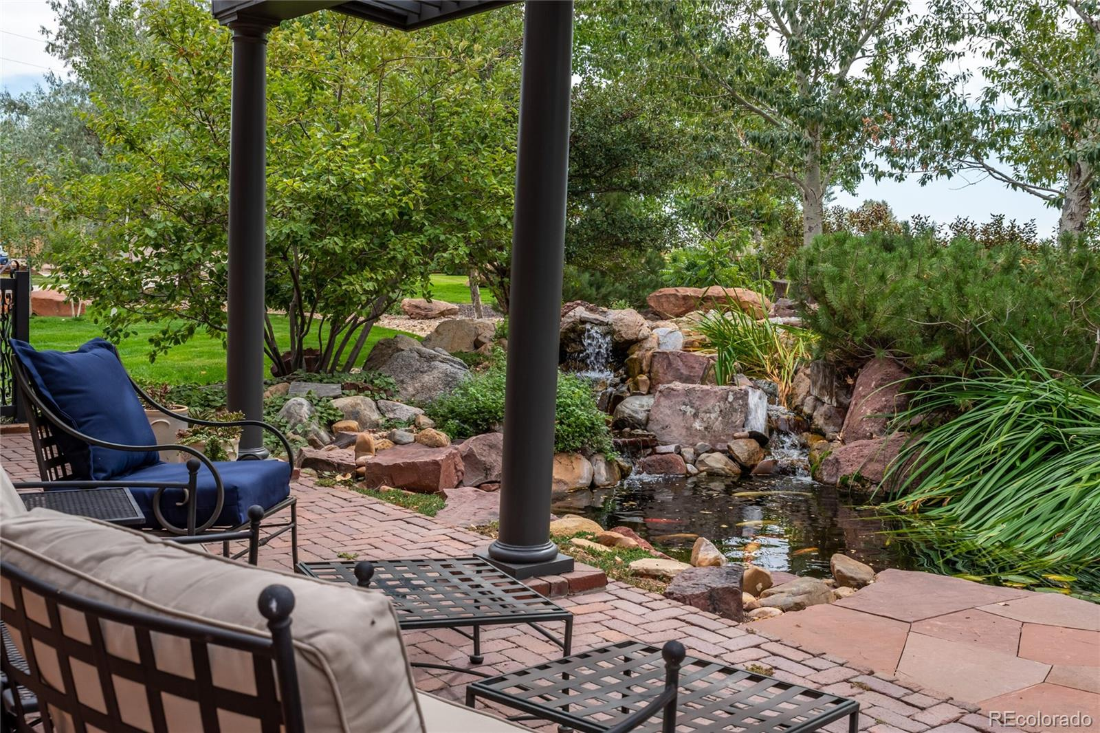 Water Feature with Koi Pond