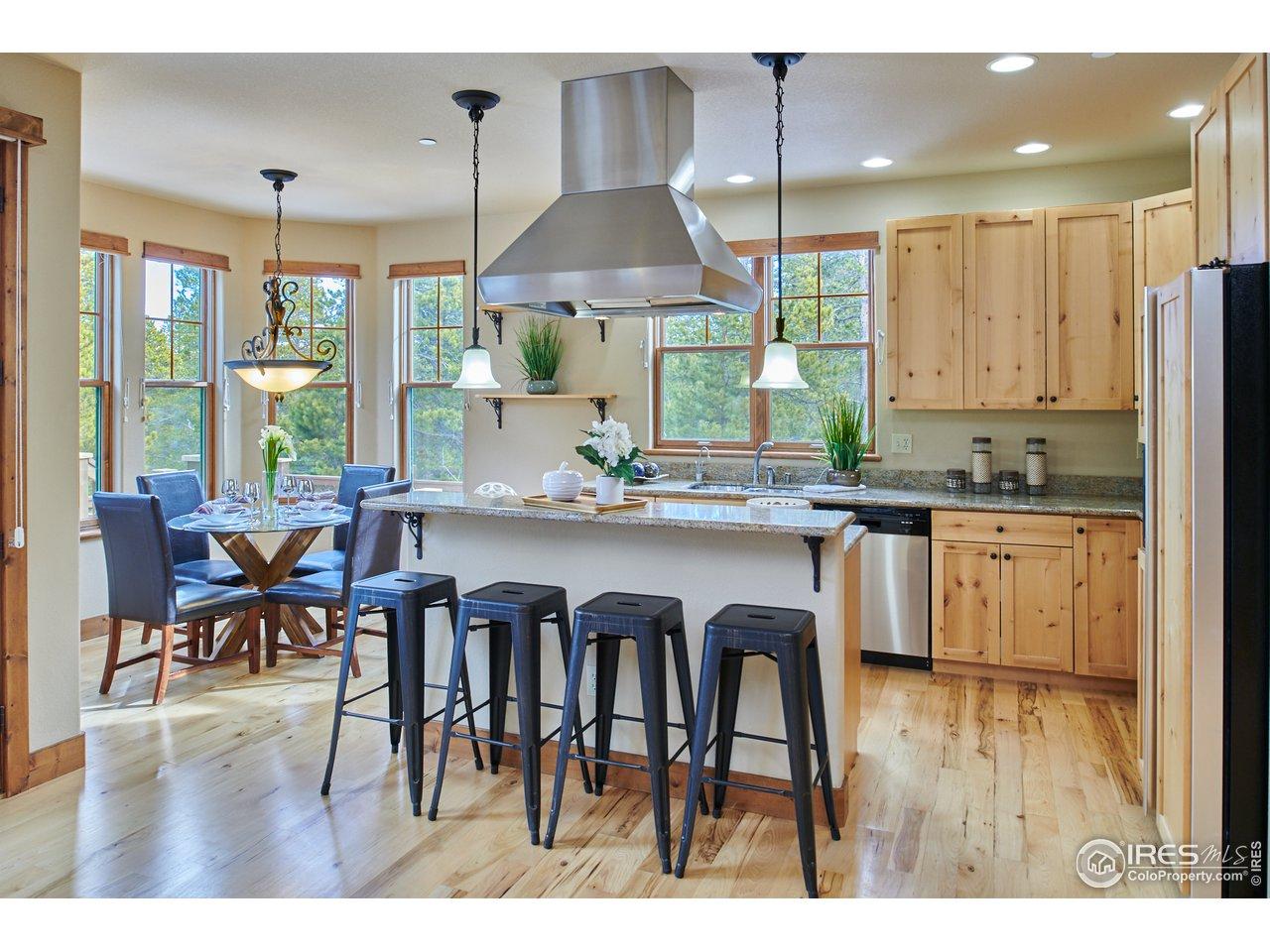 Gorgeous Kitchen with Alder Cabinets