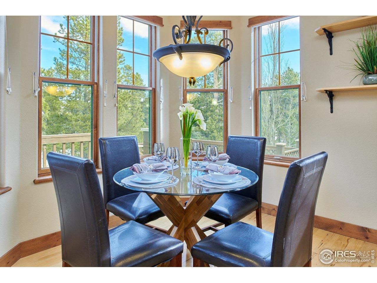 Sunlit informal dining room