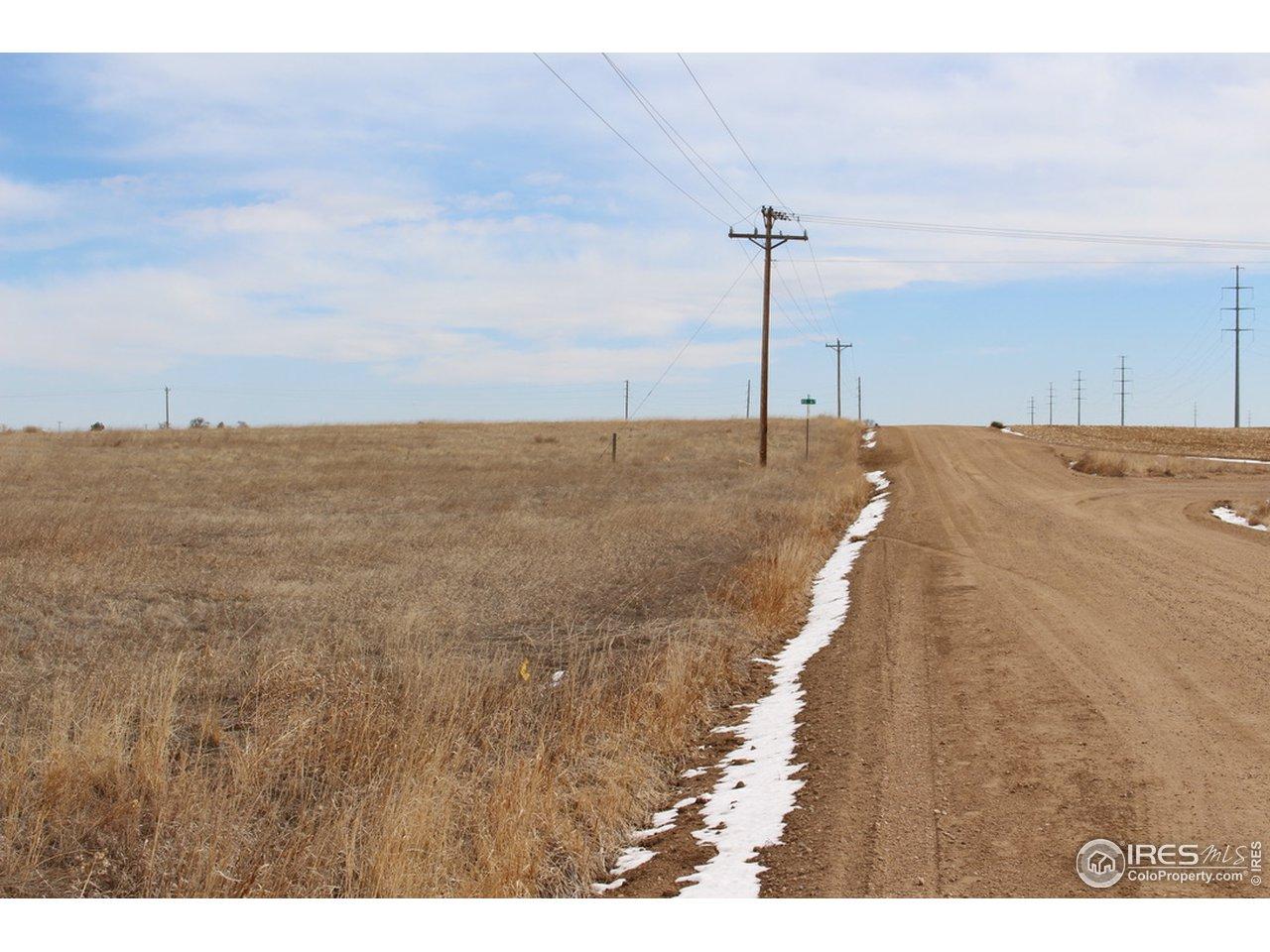 Looking East.Property line is near power pole