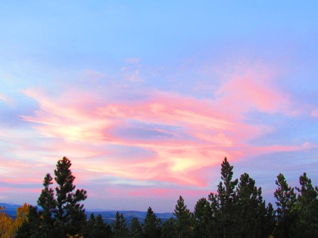 Sunset seen from decks