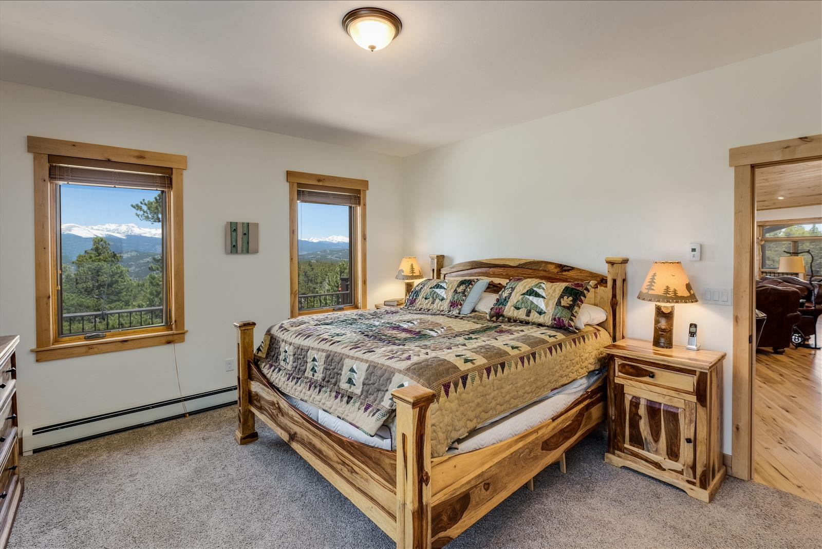 Master Bedroom with access to wrap-around deck