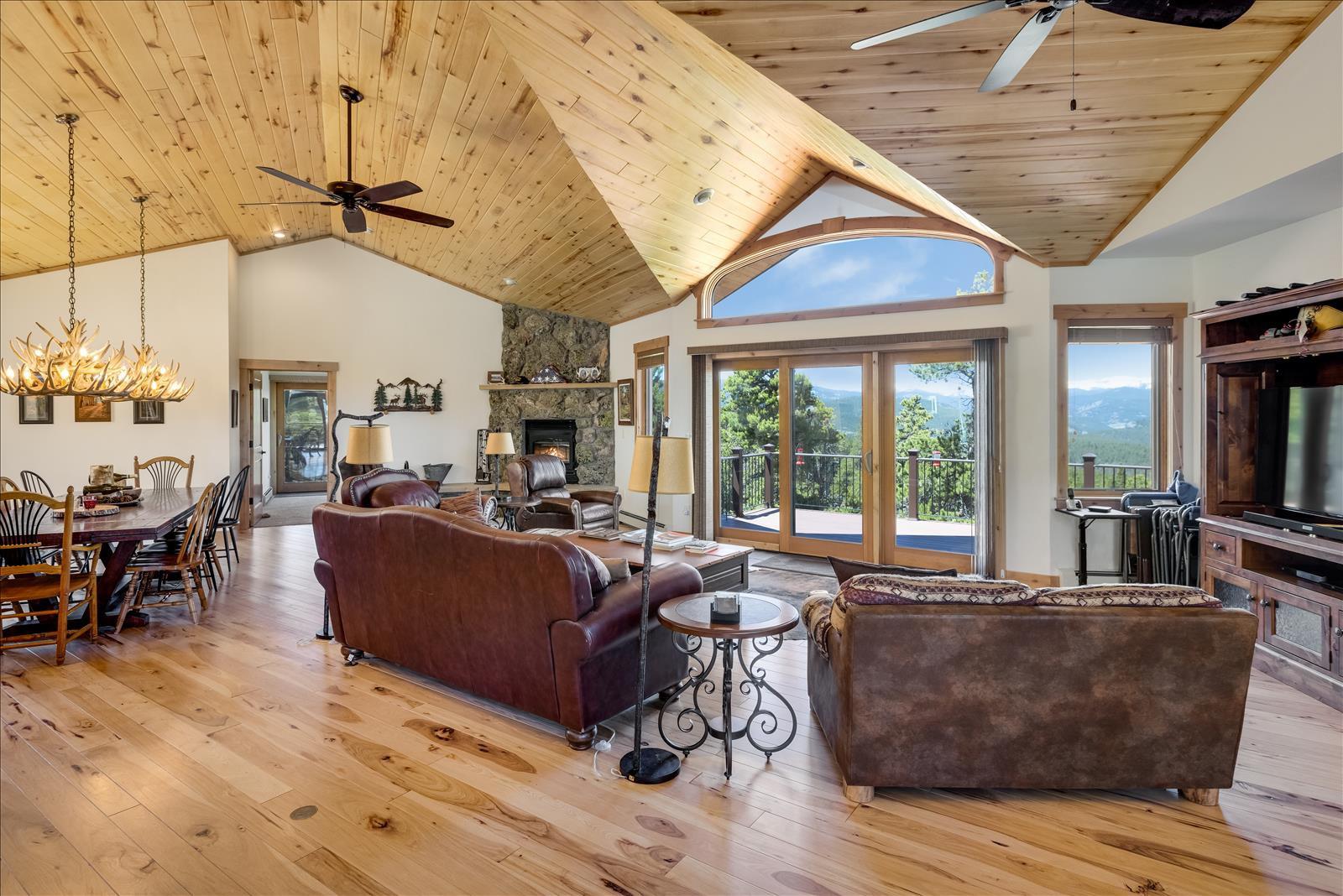 Great room with views of Arapahoe Peaks