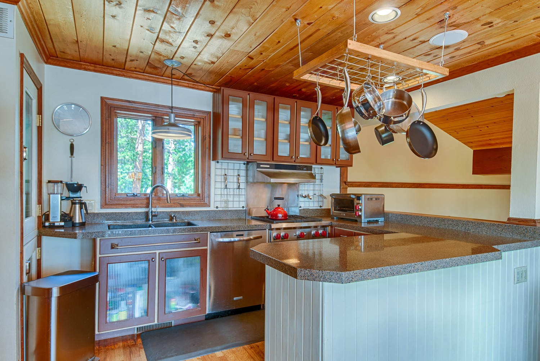 Kitchen with Wolf gas range
