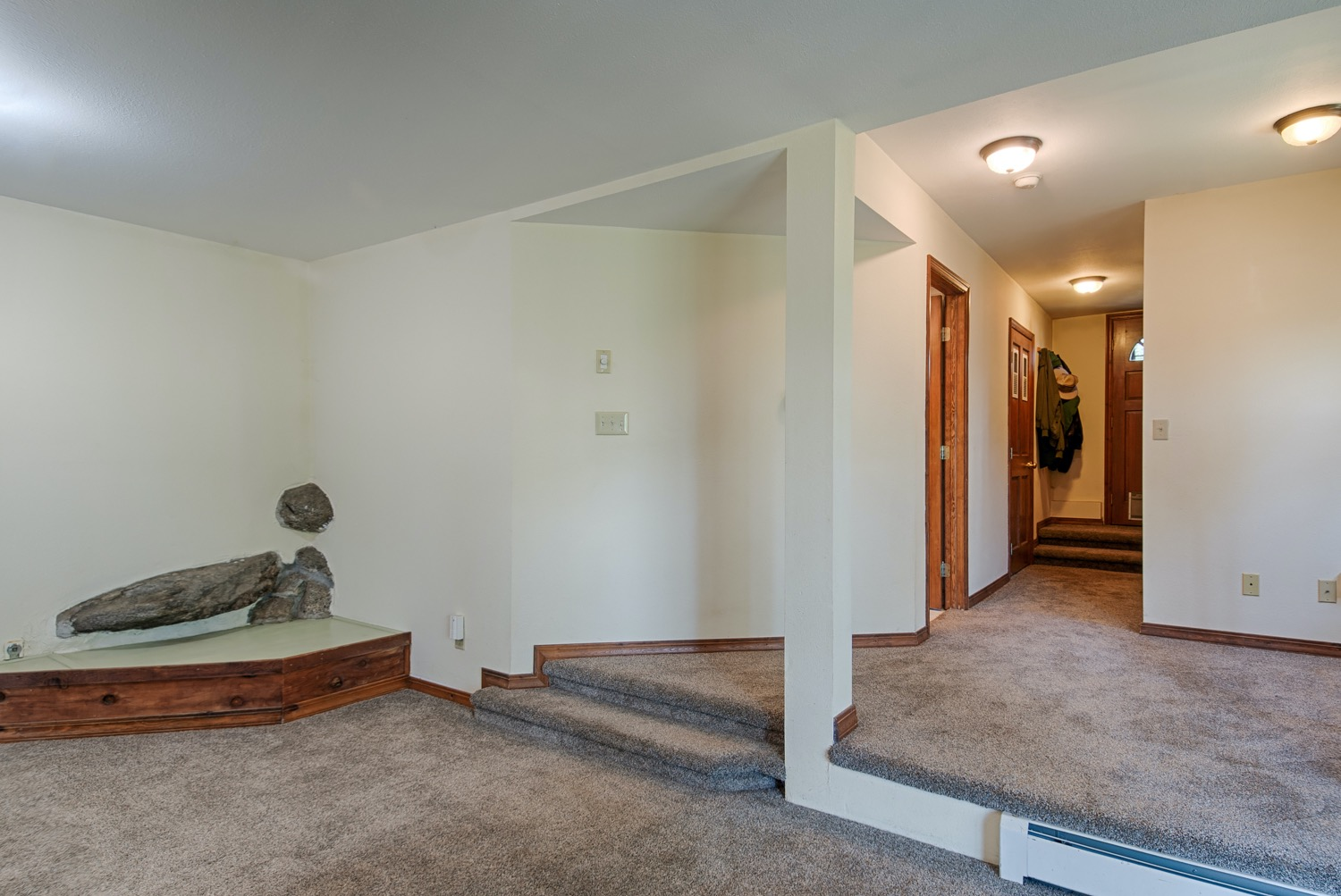 Family room with gas line for a fireplace