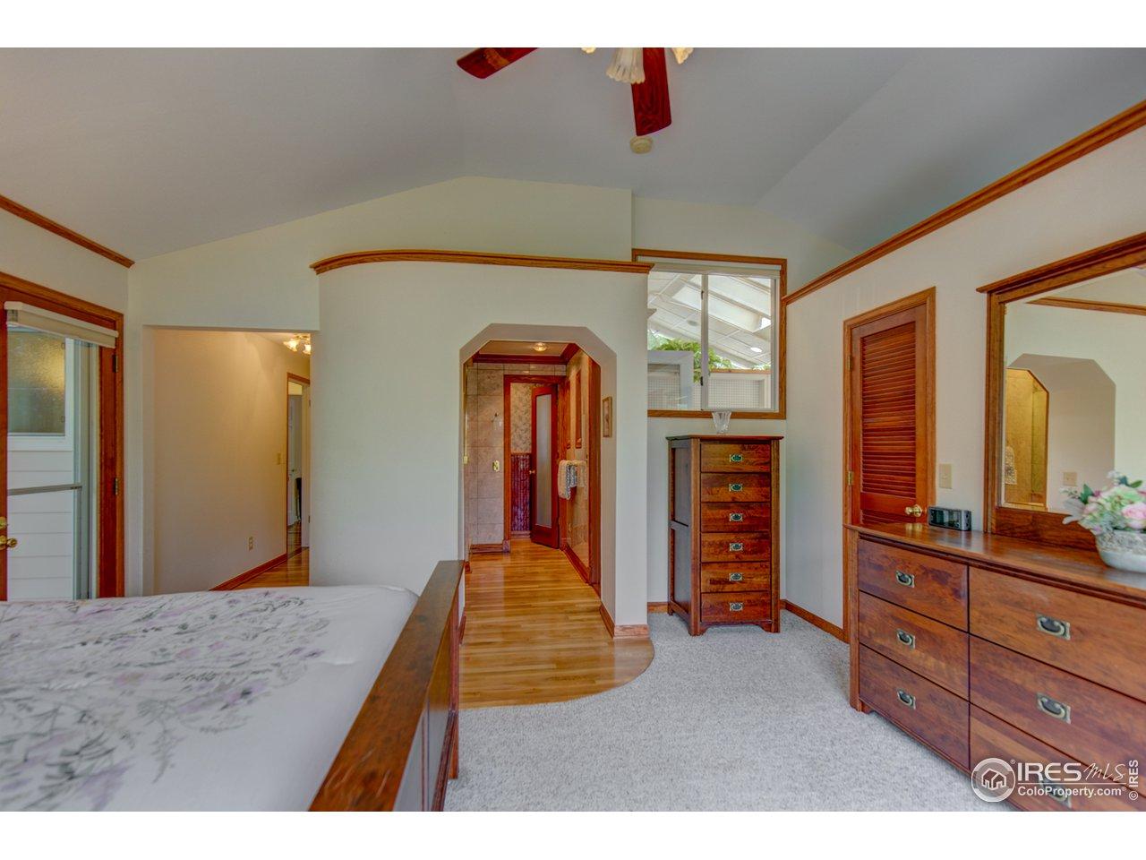 Master Bedroom with door to private deck