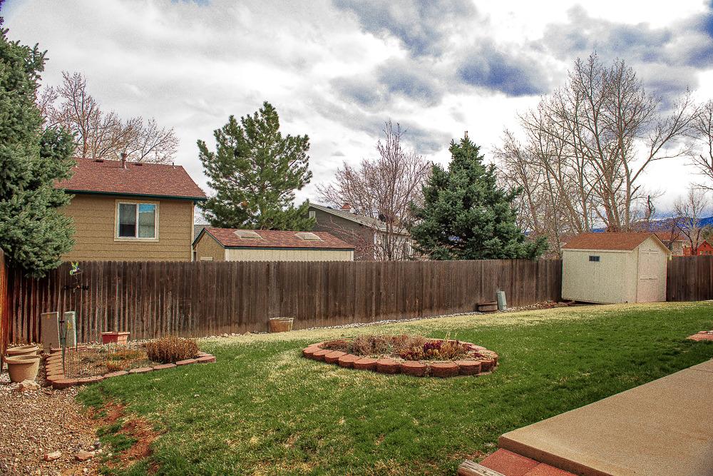 Backyard with Garden Shed