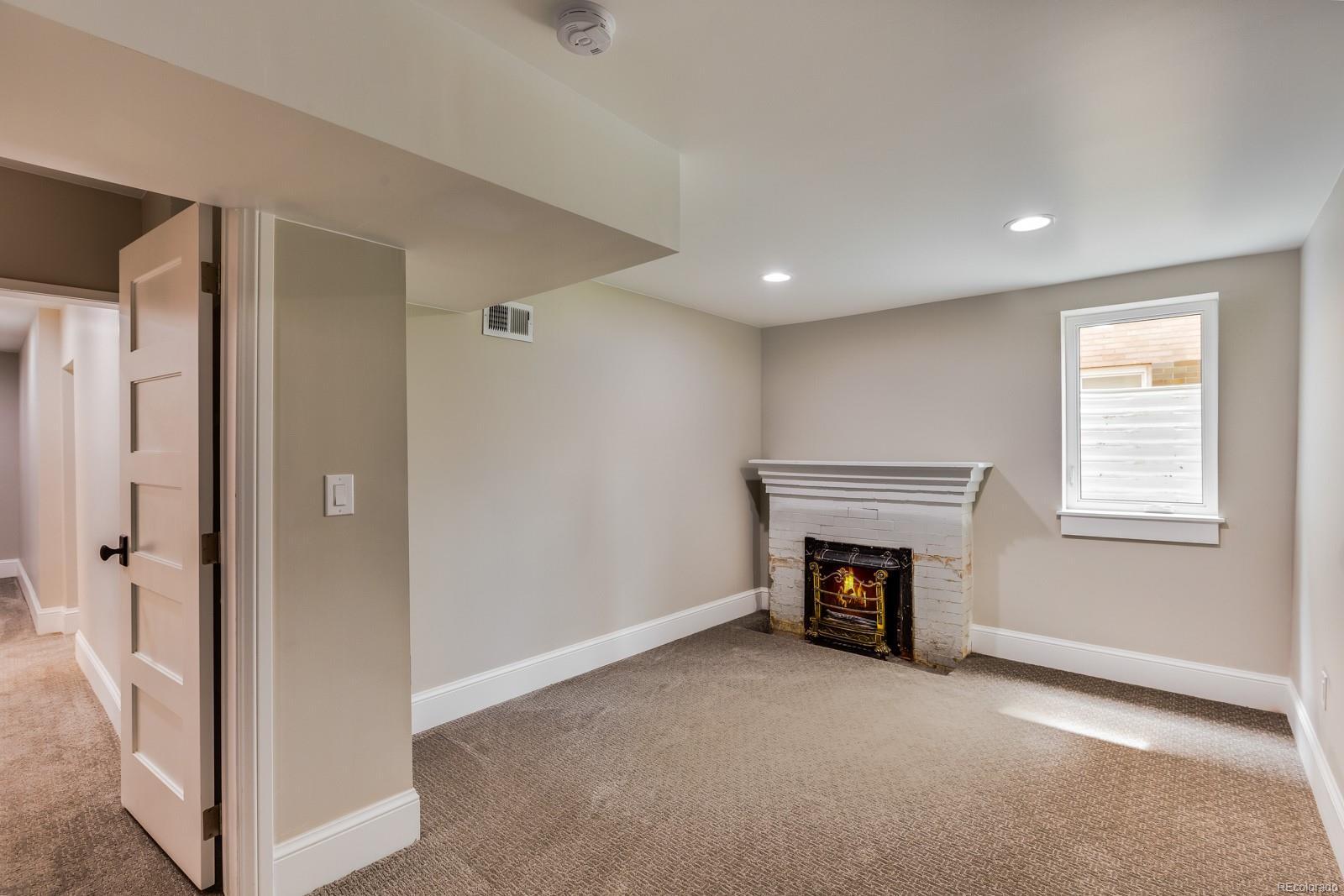 Basement bedroom with walk-in closet