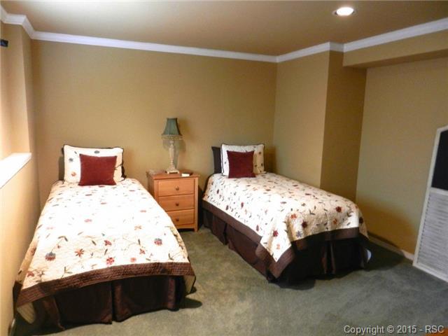 Basement level bedroom that is added finished square feet- origi