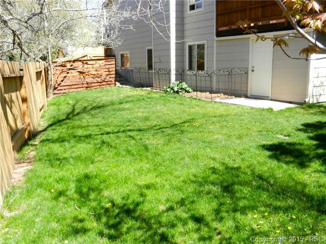 Larger view of side yard and garden