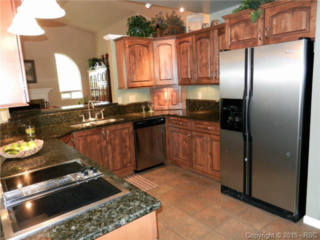 Kitchen with upgraded appliances, new granite and cabinetry