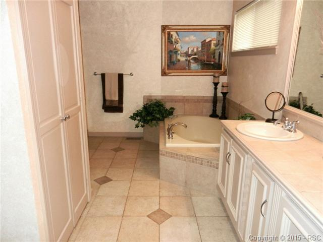 5-piece Master Bath with ceramic tile and huge attached walk-in