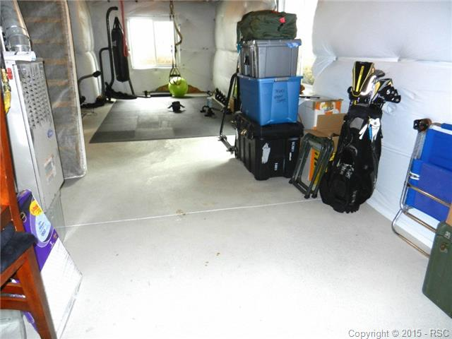 Unfinished basement is great for work out area or storage