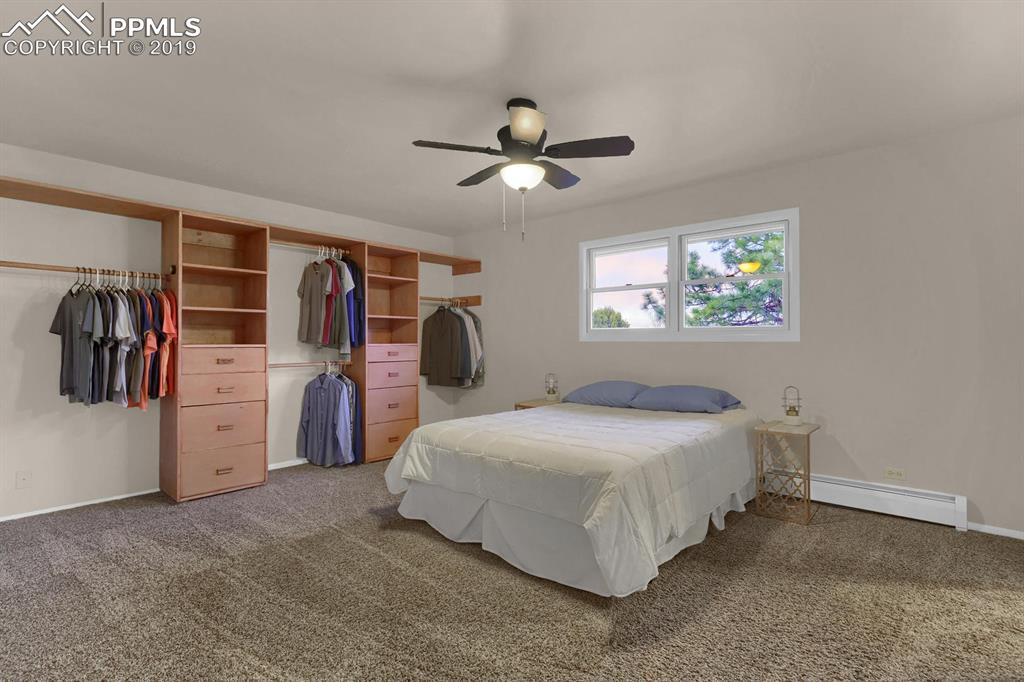 Master bedroom with open closet design