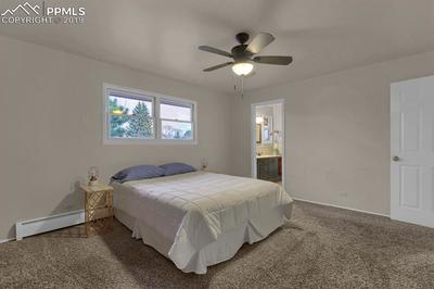 Master bedroom with adjoining master bath