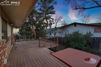 Composite deck with hot tub and panoramic views of the city and mountains