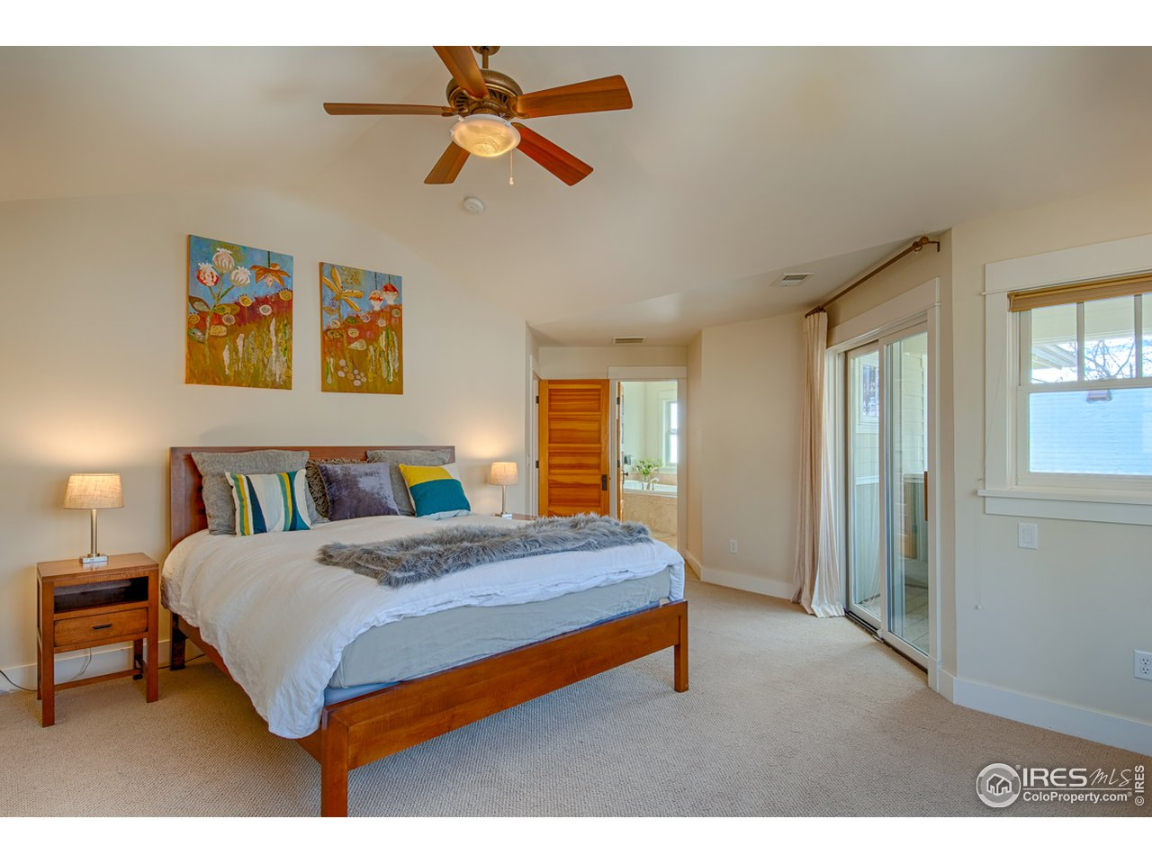 Master bedroom private southwest porch