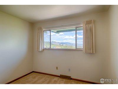 Main floor bedroom #3 - north window & view