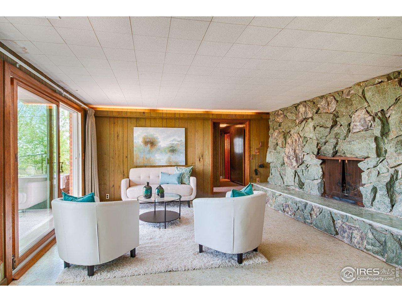 Walk-out basement - family/rec room