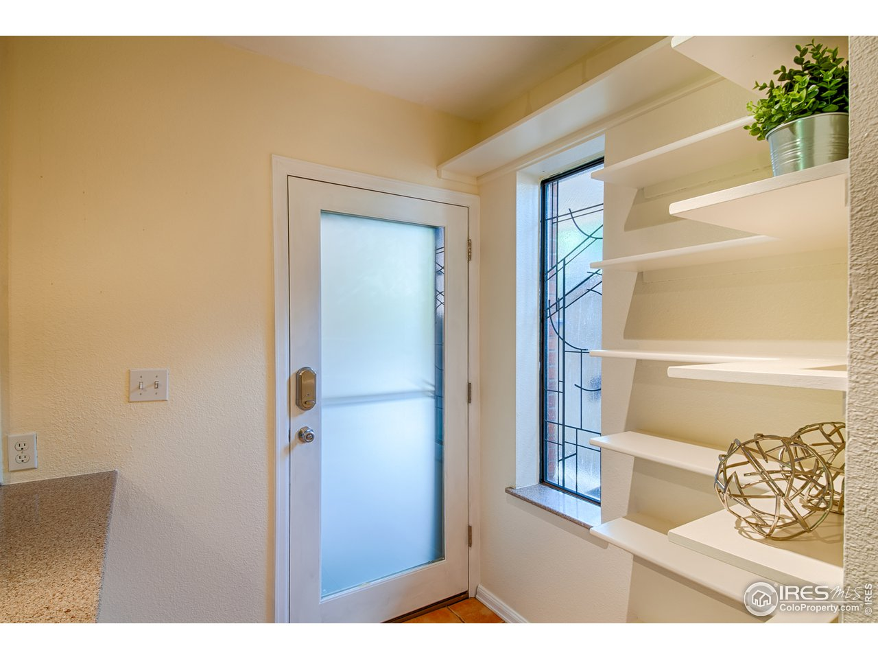 Front Door Entry w/ Built-in Shelves