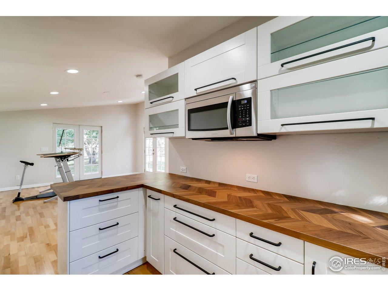 Backyard studio kitchenette