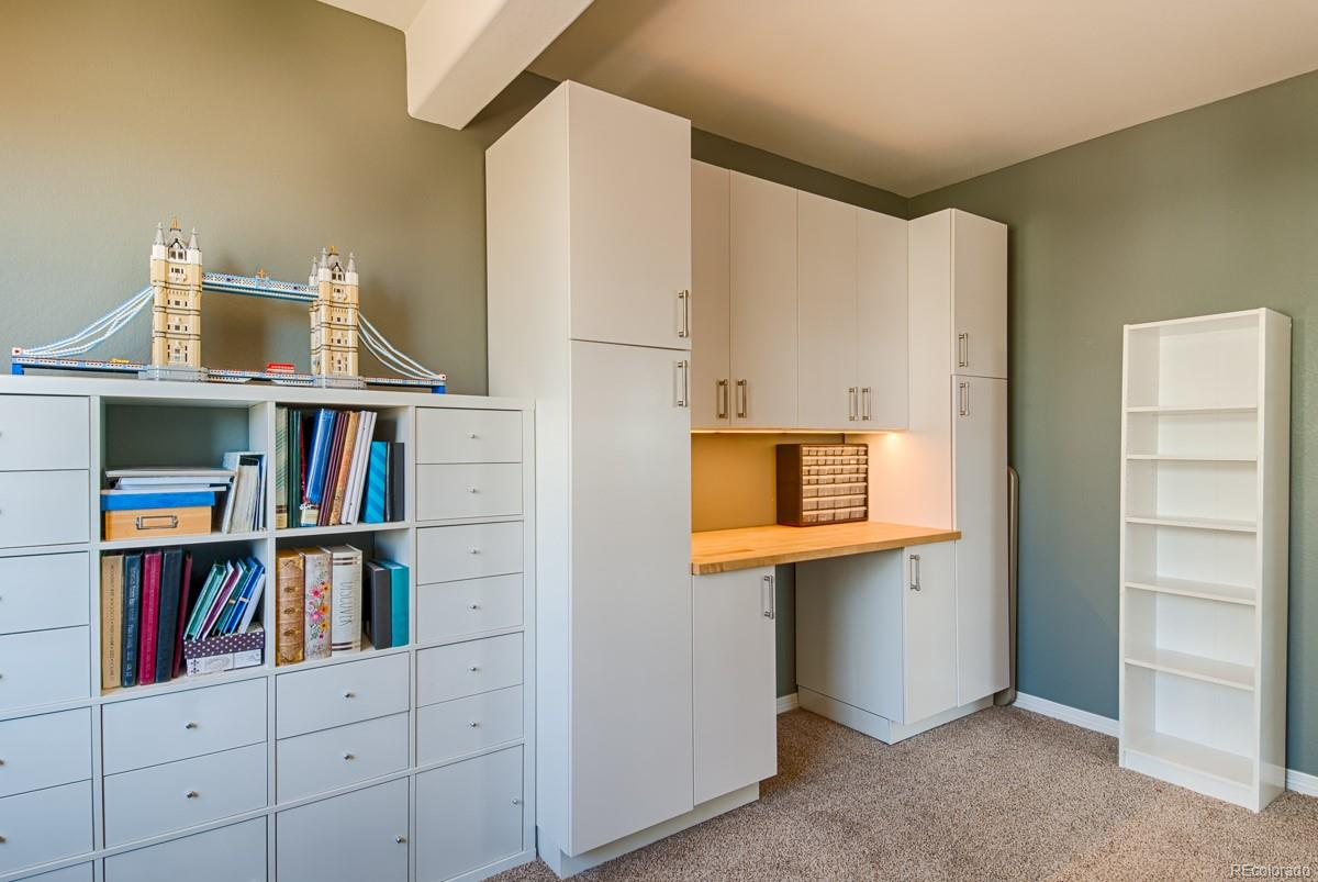 Built in Cabinets w/Desk on Right Included