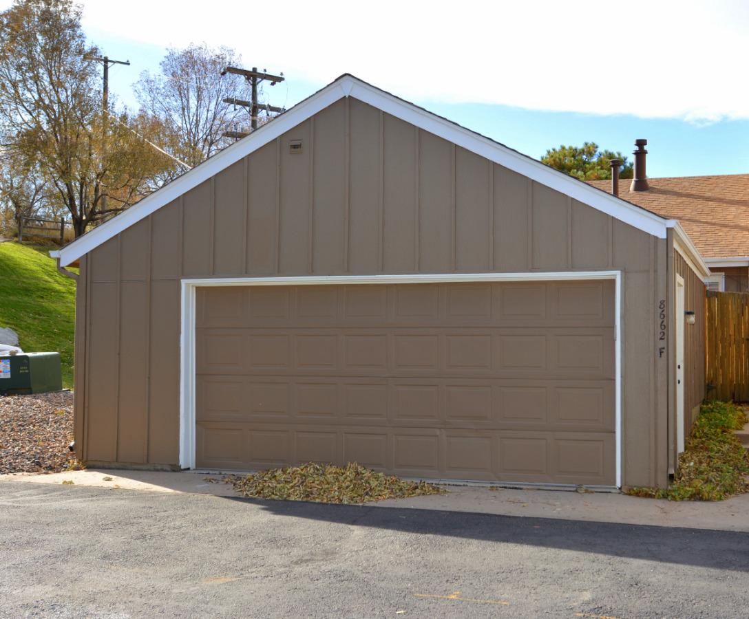 Oversized 2 car garage.