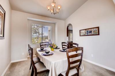 nice sized dining room with beautiful western views