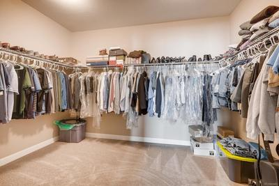 Gigantic Master closet - you could double the space with just a bar if you needed to!