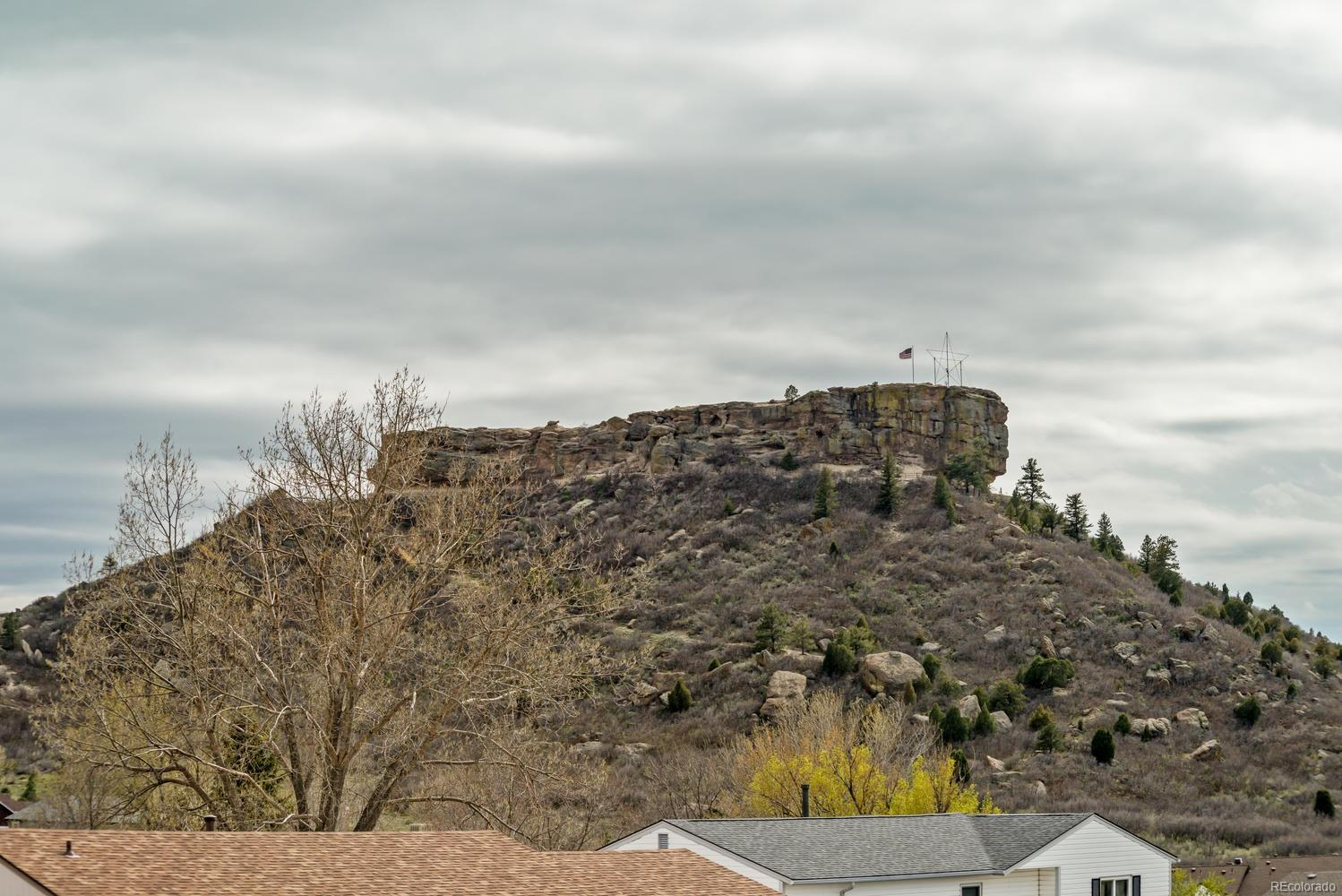 View of Castle Rock from living room window