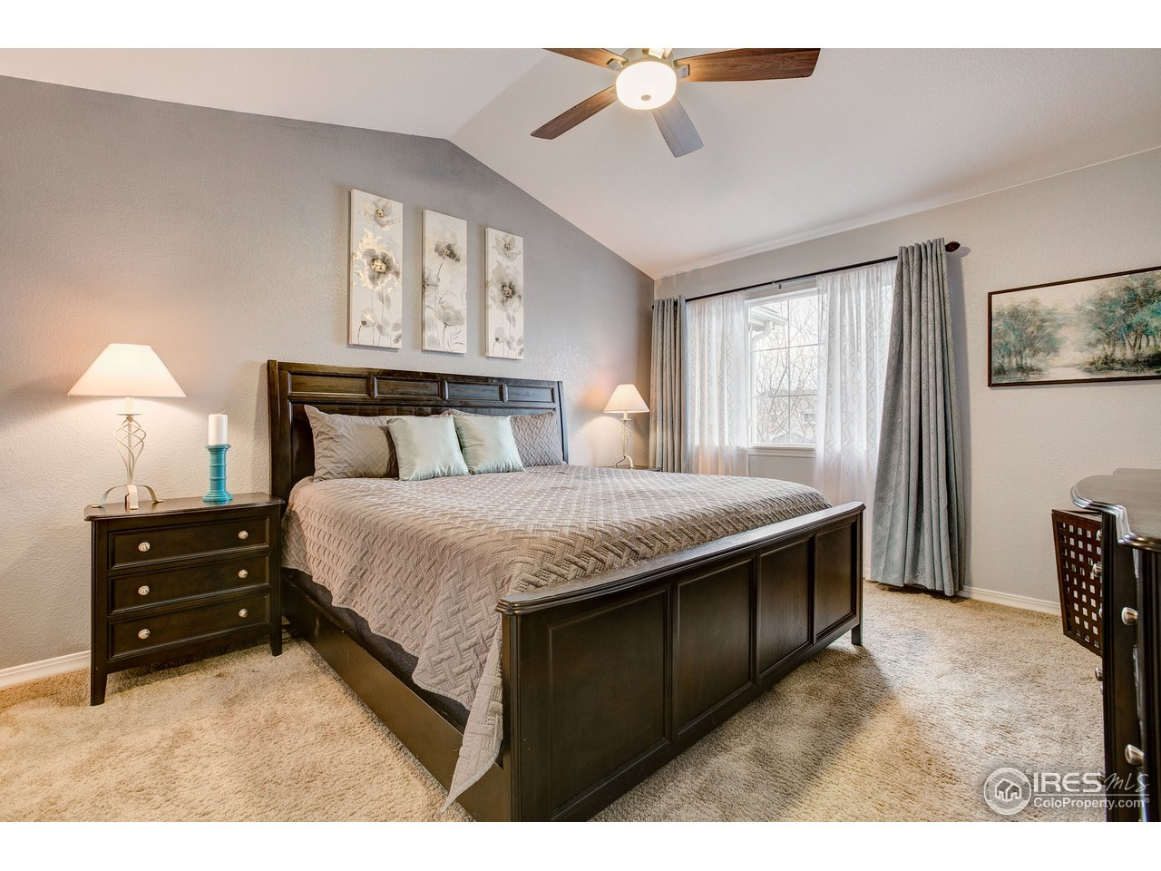 Roomy Master Suite w/Vault and Ceiling Fan