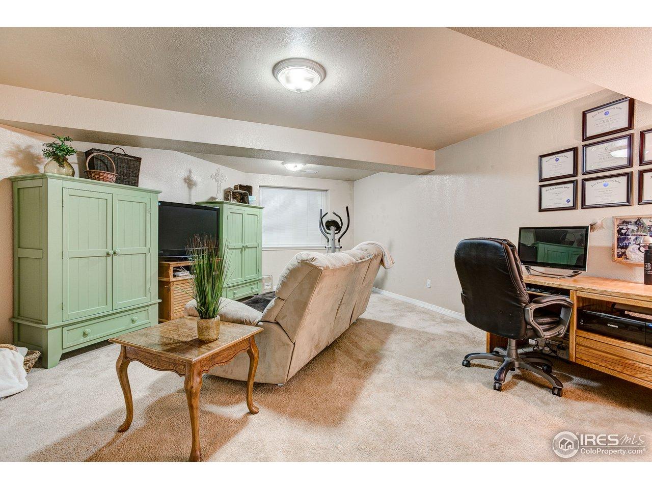 Huge Basement Room, can Double as 3rd Bedroom