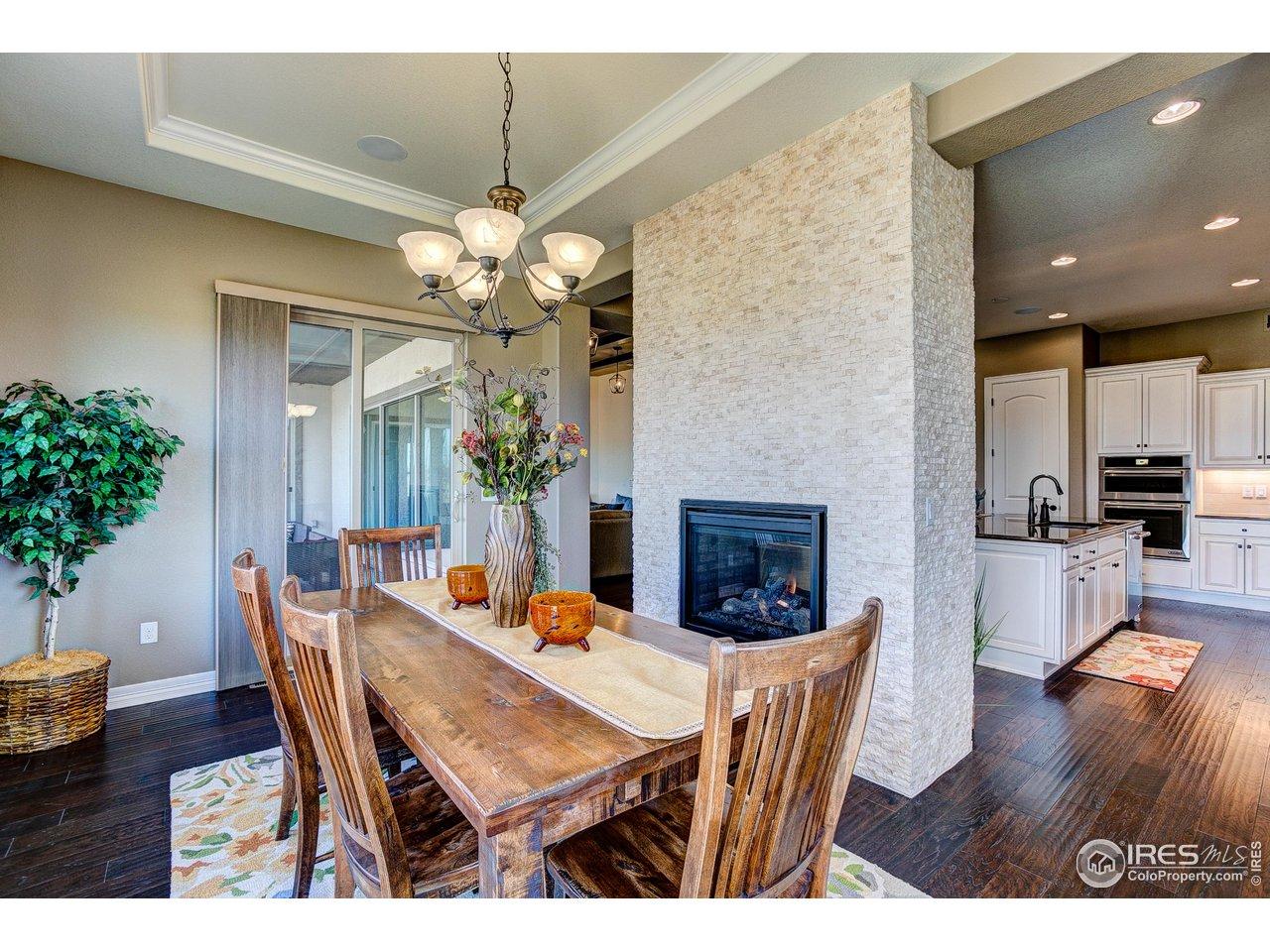 Stunning Dining Room w/Fireplace!