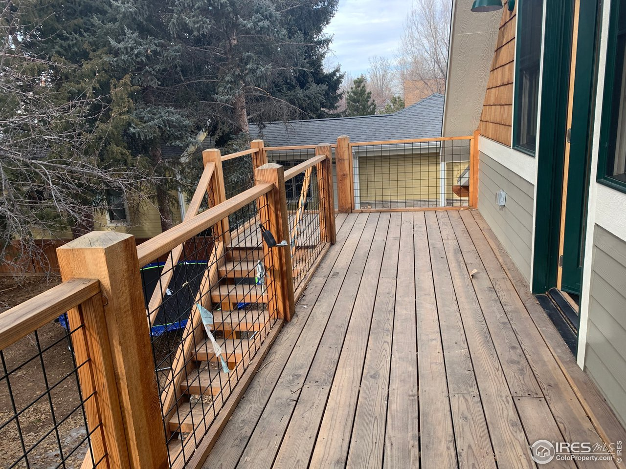Studio deck and entry