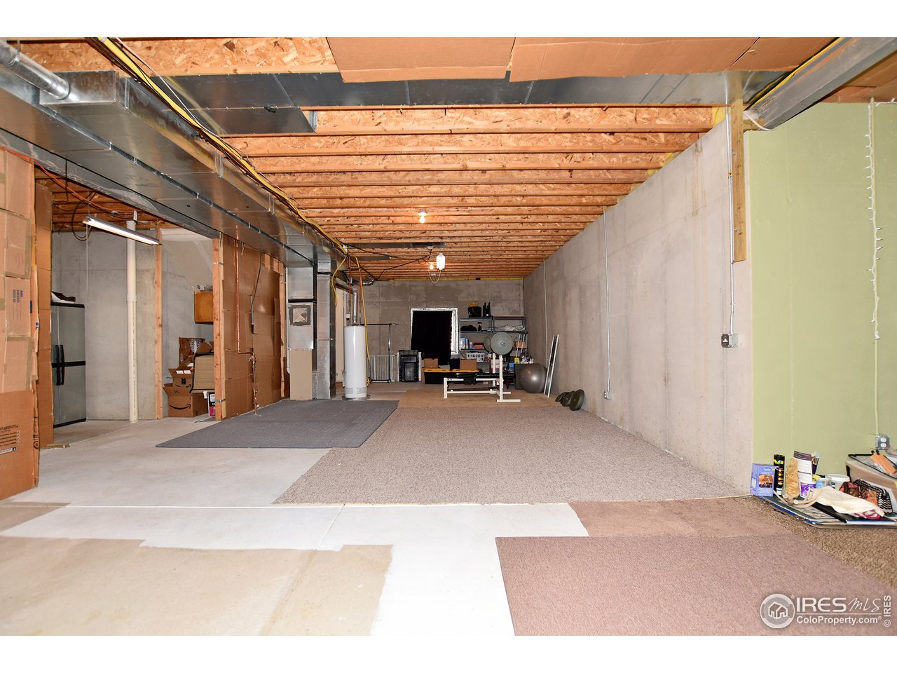 1301 Sf Basement with 10 Ft. ceilings .  Tons of room to expand