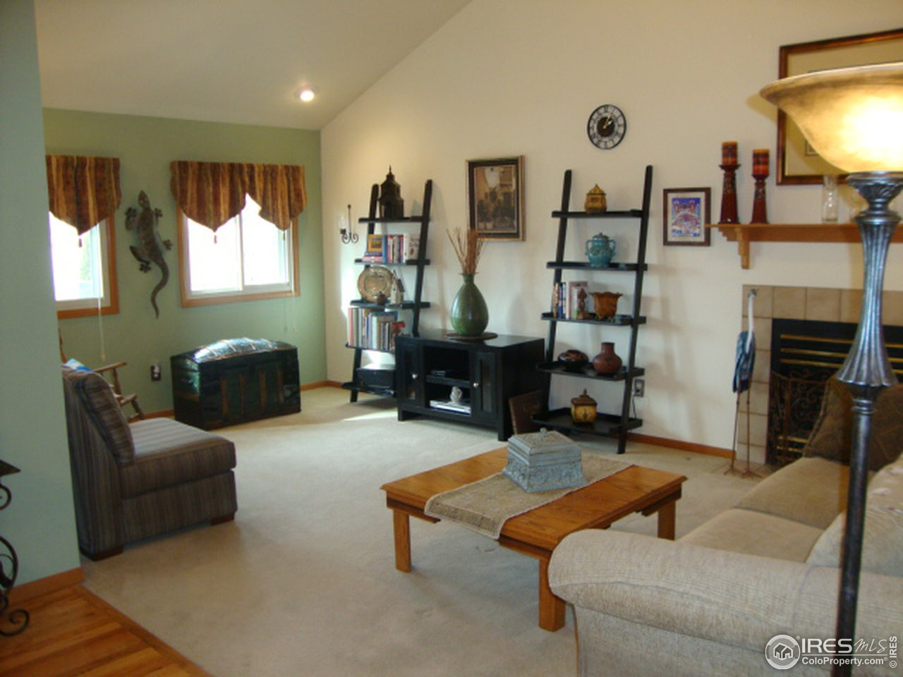 Dining area and family room with access to patio