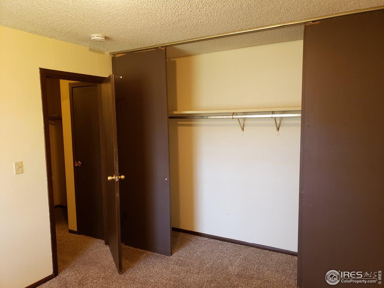 Huge closet here, too.