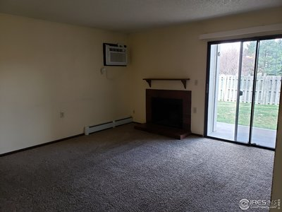Living Room with slider to patio