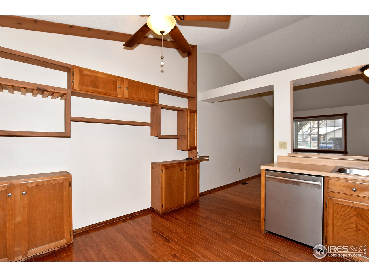 Lots of storage available, plus wine rack.