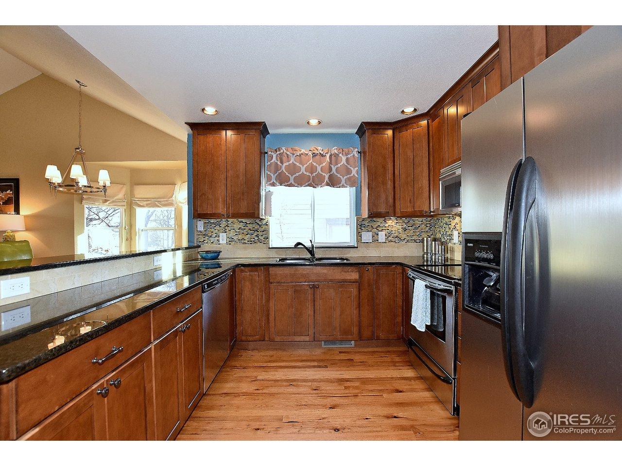 Awesome kitchen with hickory wood floors